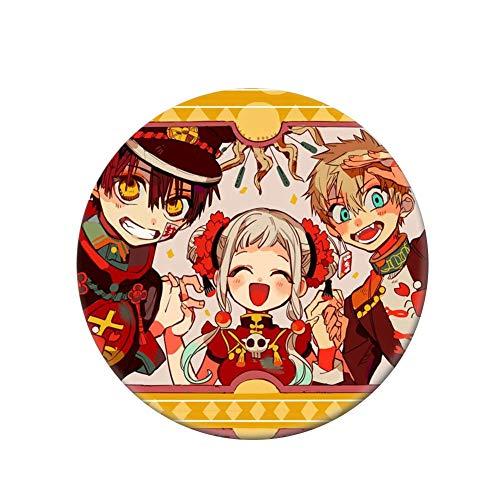 SOSPIRO Anime toilet gebonden Hanako-kun broche blik knoop pin badge accessoire voor kleding hoed rugzak decor Medium H07.