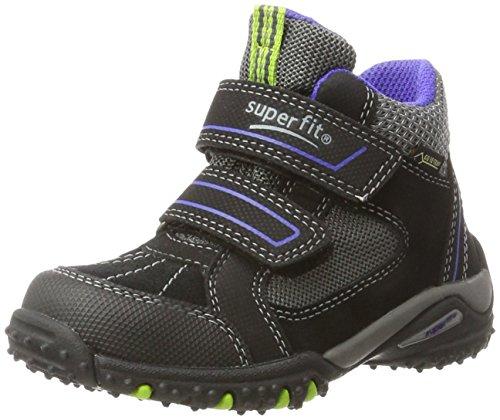 Superfit Jungen SPORT4 Hohe Sneaker, Schwarz (Schwarz Kombi), 28 EU