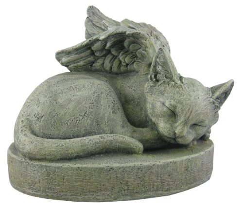 Sympathy Cat - Cat Angel Pet Memorial Stone -  Napco, 17347