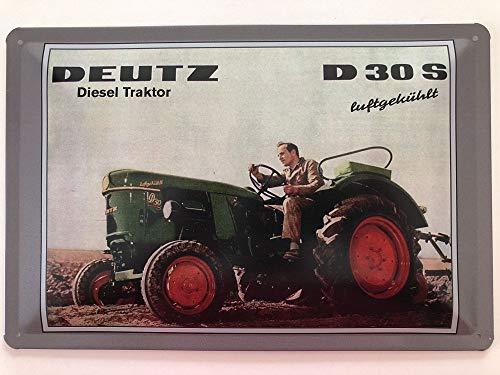 Deko7 Blechschild 30 x 20 cm Deutz D30S Classic
