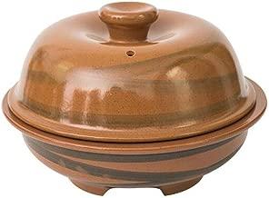 Terrines Pot Small Ceramic Outdoor Steamer Shabu-shabu Japanese Hot Pot Single Fast Food Bowl Breakfast Pot Frying Pan Shabu-shabu (Color : Brown, Size : 21 * 13.5cm)