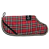 The Bunty Highland coat will ensure your dog is kept warm and cosy. Fully reversible with a stylish tartan fabric on one side and a tough weather proof polyester on the other. Simple and easy to fit with velcro straps around the waist and neck and el...
