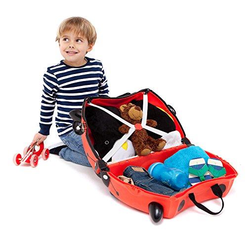 Trunki Trolley Kinderkoffer, Handgepäck für Kinder: Harley Marienkäfer (Rot) - 4