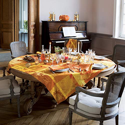 Garnier Mille Banquets Ocre gecoat tafelkleed 175 x 175 cm