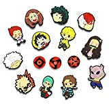 16pcs Mixed Anime Shoe Charms with Wristband for Croc Shoes Bracelets PVC Decor Gifts Party Favor