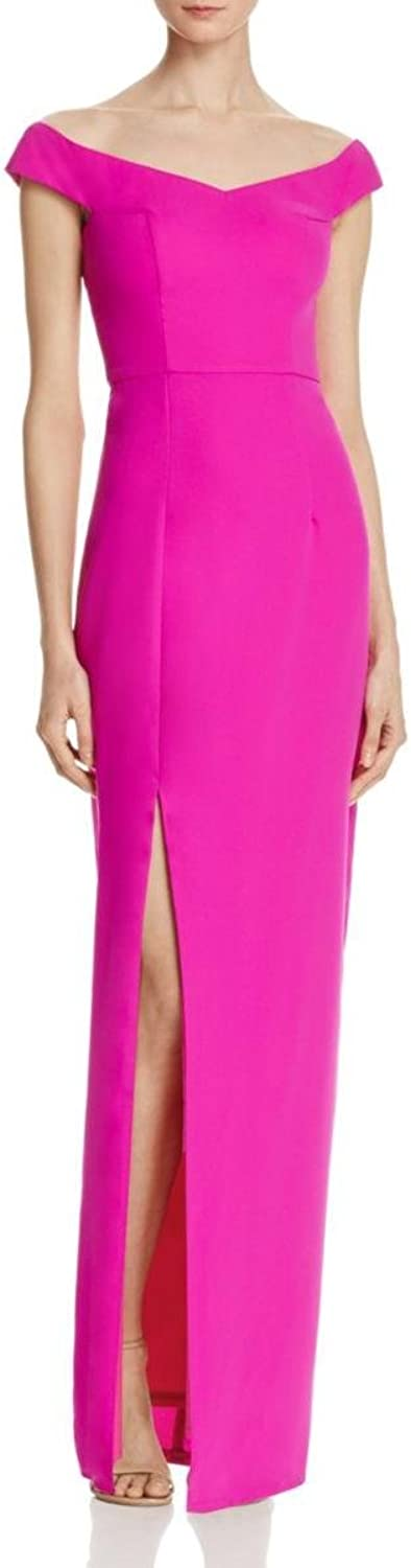 Bariano Womens Side Slit Sleeveless Maxi Dress