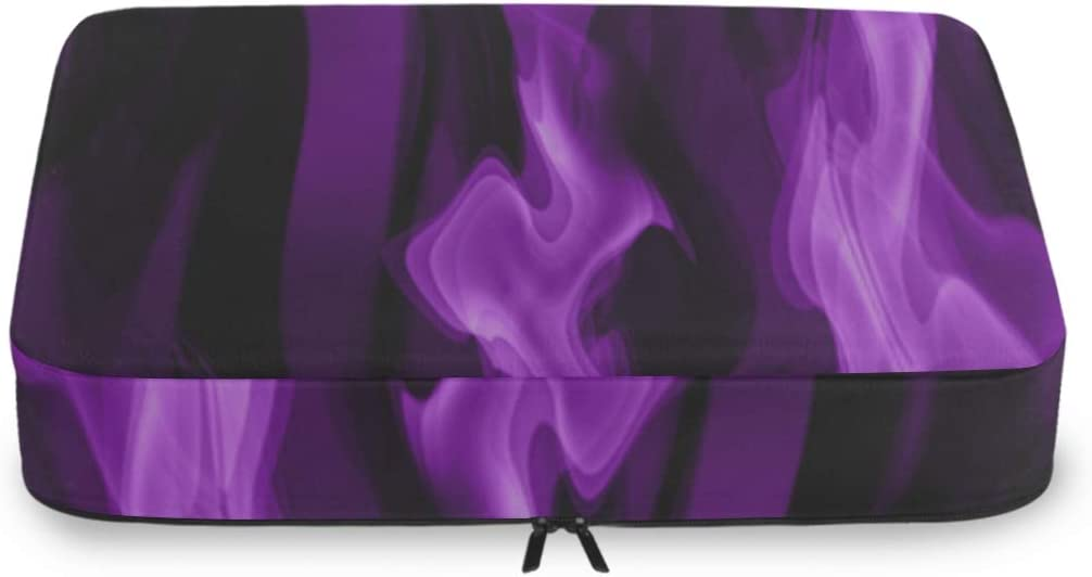 Luggage Organizers For Topics on TV Travel Smoke Abstract sold out Flame Art Pa Purple