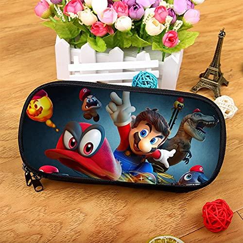 Estuche Mario versión coreana de la bolsa de papelería multifuncional más vendida, nueva caja de papelería para estudiantes, estuche de lápices, Super Mario gran capacidad