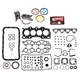 Evergreen Engine Rering Kit FSBRR4011EVE Compatible With 90-01 Acura Integra B18A1 B18B1 Full Gasket Set, Standard Size Main Rod Bearings, 0.50mm / 0.020' Oversize Piston Rings
