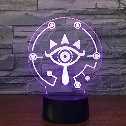 3D Table Lamp Link Breath of The Wild Link Nightlight 7 Color Changing Visual Illusion Light