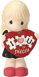 Precious Moments I Love You Topiece Bisque Porcelain Figurine Girl 163001