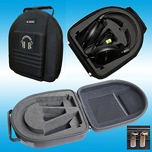 TDC Headphone Carry case boxs Compatible with Audio-Technica ATH-W1000Z ATH-W2002 ATH-W100 ATH-W10VTG ATH-DN1000US ATH-A1000Z ATH-A900Z ATH-A2000Z ATH-ADG1X ATH-A9X Headphone(Headset Suitcase)