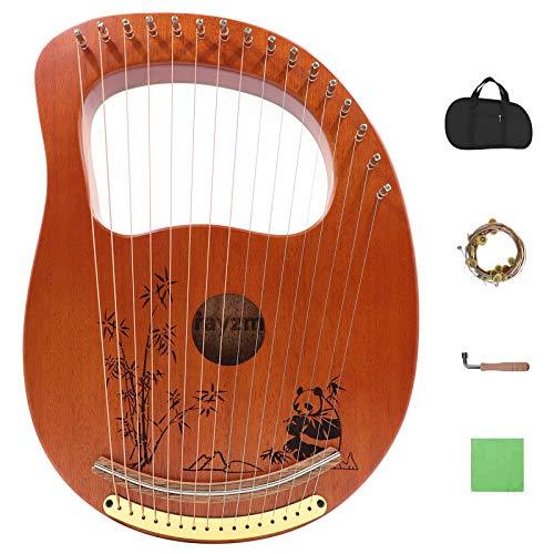 Rayzm Lyre Harp, Instrument de Lyre en acajou en bois massif avec conception brevetée, Harpe...