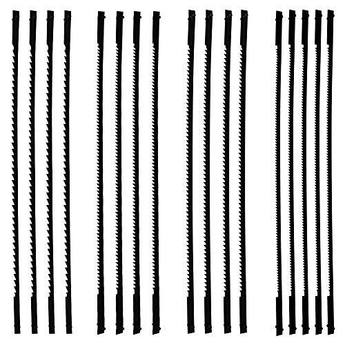 TOCYORIC Dekupiersägeblatt, 127mm Feinschnitt Laubsägeblätter mit Stift 10/15/18/24 Zähne, für Dekupiersägen für Holzbearbeitung Elektrowerkzeug-Zubehör, 16 Stück