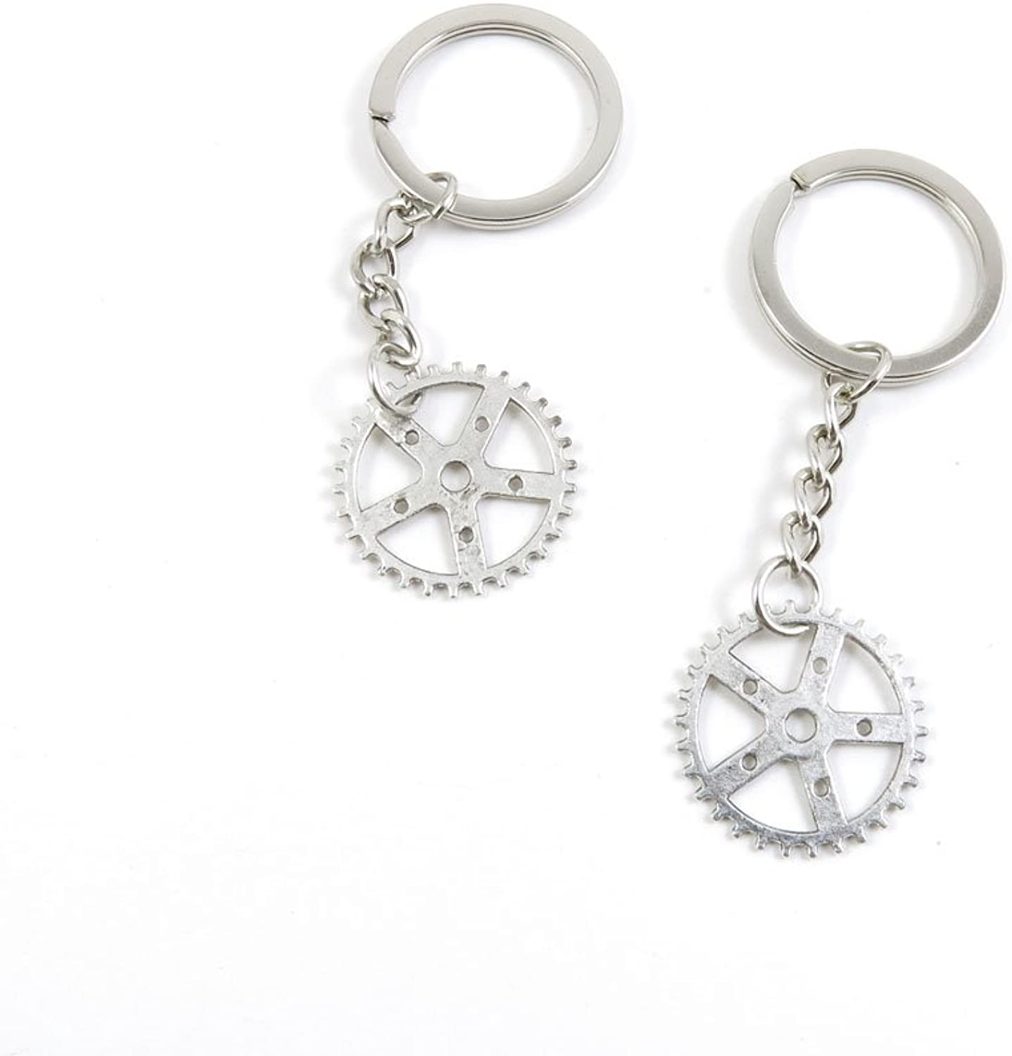 210 Pieces Fashion Jewelry Keyring Keychain Door Car Key Tag Ring Chain Supplier Supply Wholesale Bulk Lots Z7JS2 Cog Steampunk Gear Gearwheel
