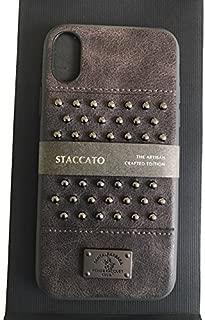 Apple Iphone X Staccato Santa Barbara Polo Racquet Club Leather Luxury Case (Grey)