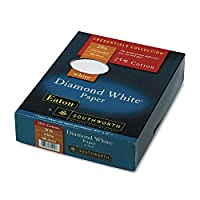 SOU3122010 - サウスワース 25% コットン ダイヤモンド ホワイト ビジネスペーパー