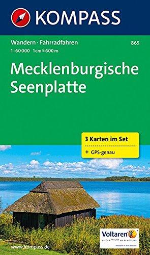 Mecklenburgische Seenplatte: Wanderkarten-Set. GPS-genau. 1:60000: 3-delige Wandelkaart 1:50 000 (KOMPASS-Wanderkarten, Band 865)
