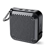 Wireless Portable Bluetooth Speaker with Hook (2020 New) IPX7 Waterproof Speaker Small Outdoor Portable Speaker 10Hrs Playtime with Mic Aux-in TF Slot for Shower Bath Pool Beach Kayaking No FM (Black)