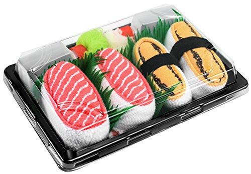 Rainbow Socks – Man Vrouw Sushi Socks Box Zalm Tamago - 2 Paar