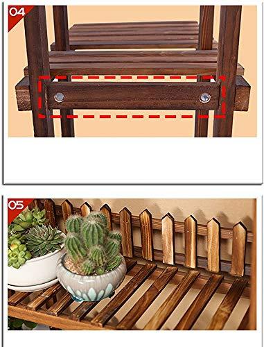 Wildlead Chin mehrschichtiges Holzschutzmittel Blume grüne Pflanze ebener Boden Wohnzimmer Balkon Blumentopf Rack Möbel Terrasse (Größe: B),B