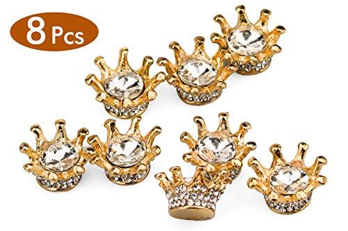 Zaleonline 8 STK Deko Goldene Kronen Tortendeko Vintage Kronen Deko mit Strasssteine zum Basteln für Schmuckherstellung DIY als Geschenk Mädchen Kinder