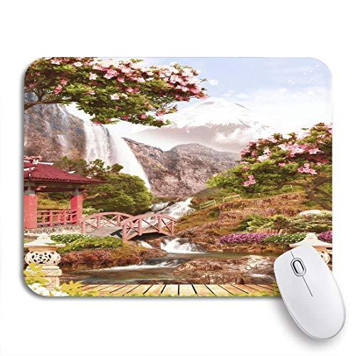 Gaming mouse pad bank digital fresko japan gartenbrunnen alter wasserfall bogen rutschfeste gummi backing computer mousepad für notebooks maus matten