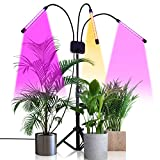 Grow Light with Stand,GHodec Tri-Head 60W Floor Plant Lights for Indoor Plants, Tripod Stand Adjustable 15-48 in,3/9/12H Timer & 3 Modes