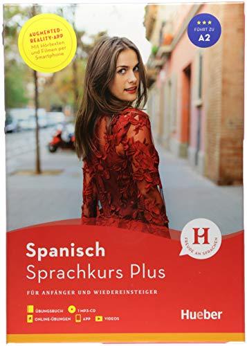 Hueber Sprachkurs Plus Spanisch: Für Anfänger und Wiedereinsteiger / Buch mit MP3-CD, Online-Übungen, App und Videos