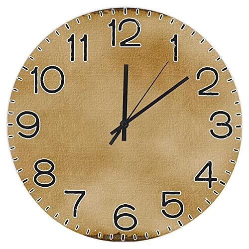 Reloj de pared redondo de madera de 30,48 cm, reloj rústico para el día del padre, día de la independencia, hogar, cocina, dormitorio, baño, oficina, sala de estar, comedor.