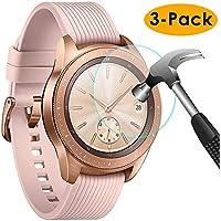 KIMILAR Pantalla Compatible con Samsung Galaxy Watch 42mm / Gear S3 Protector Pantalla, [3 Paquetes] Templado Vidrio para Galaxy Watch 42mm & Gear S3 Frontier/Classic - 9H Dureza Anti-rasguñe