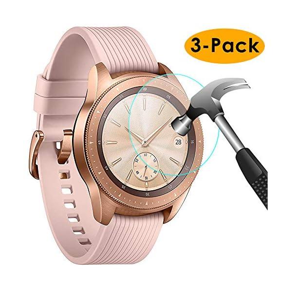 KIMILAR Pantalla Compatible con Samsung Galaxy Watch 42mm / Gear S3 Protector Pantalla, Templado Vidrio Compatible con… 1