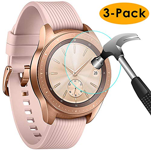 KIMILAR Pantalla Compatible con Samsung Galaxy Watch 42mm / Gear S3 Protector Pantalla, Templado Vidrio Compatible con Galaxy Watch 42mm & Gear S3 Frontier/Classic - 9H Dureza Anti-rasguñe