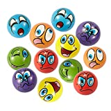 "Emoji Stress Ball 12 PCS Party Favor Balls (2.5"") Squeeze Toy to Release"