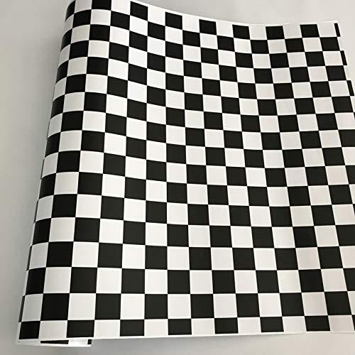 Negro blanco gris vinilo de vinilo envoltura adhesivo PVC vehículo cubierta techo motocicleta scooter calcomanía etiqueta rollos de hoja (Color Name : No 10)