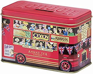 Ahmad Tea London Bus Tin, English Breakfast, 20 Count Tin