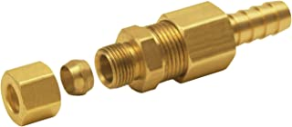 Derale 13031 5/16 Cooler line to 3/8 NPT Hose Barb Universal Transmission Line Fitting