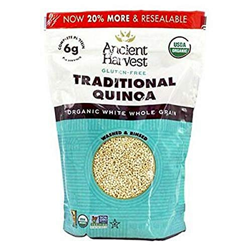 Ancient Harvest Organic Quinoa, Traditional, 12 oz. Bag, Essential Gluten-Free Whole Grain Quinoa Packed with Protein, An Easy to Prepare Supergrain