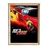 FANART369 Póster de la película Redline #2, tamaño A3, diseño de fanart original de pared, 29,7 x 42 cm, sin bordes