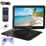 """MaSYZBF 15.6"""" DVD Portátil Coche Pantallas soporta Entrada HDMI para Reposacabezas, Reproductor de DVD para Niño Soporta SD/USB/CD/DVD"""