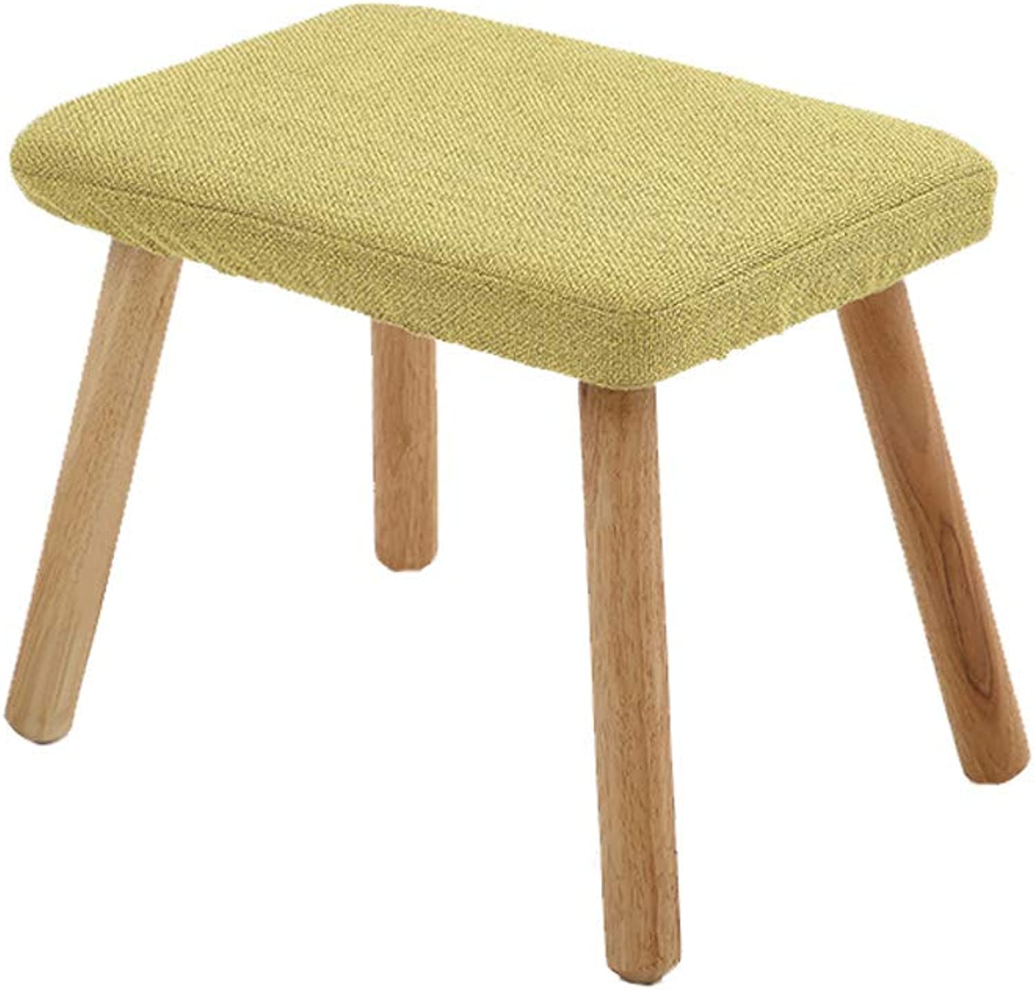 HLJ Creative Home Adult Change shoes Stool Personality Solid Wood Tea Table Stool Simple Sofa Change shoes Bench
