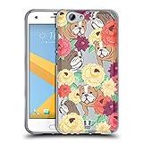 Head Case Designs Perro Patrón Floral y Animal Carcasa de Gel de Silicona Compatible con HTC One A9s