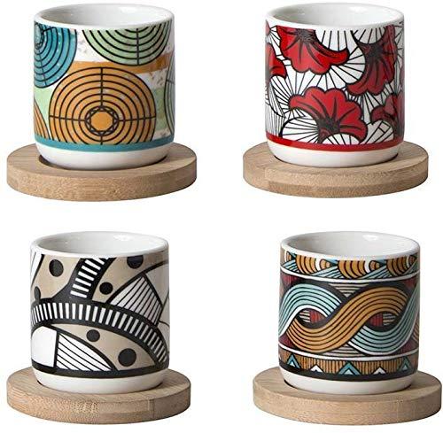 Vasos de café y cuenco de bambú Wax (4 unidades)