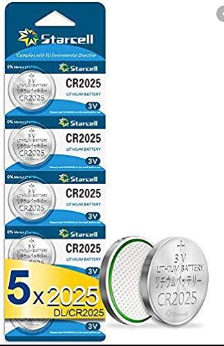 Act CR2025 Lithium Knopfzellen 3V Batterie in Original Blisterverpackung 5er Pack