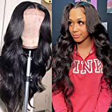Ugrace Hair Body Wave Wig 4X4 Lace front Wigs Human Hair for Black Women Brazilian Virgin Lace Closure Wigs 180% Density Pre Plucked Natural Hair Line With Baby Hair (22inch, 4x4 lace closure wig)