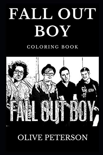 Fall Out Boy Coloring Book: Famous Pop Punk Band and Legendary Grammy Award Winners, Alternative Rock Pioneers and Musical Prodigy Inspired Adult Coloring Book