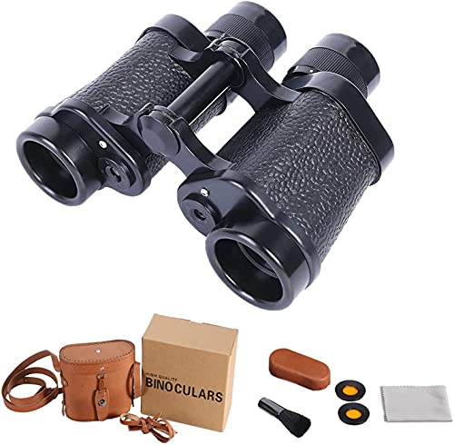 8x30 Binoculares metálicos completos para adultos, prismáticos antiholados a prueba de agua / profesional a prueba de agua con visión nocturna baja, duradera y clara FMC BAK4 PRISM LENS, para aves vig