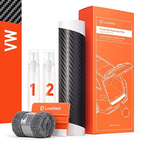 Luxshield Ladekantenschutz Folie Komplettset - Golf 7 (VII) AU/5G I 2012-2019 - Stoßstangenschutz, Kratzschutz, Lackschutzfolie - Carbon Optik Selbstklebend