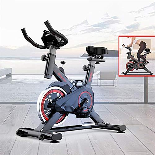 Zhihao Indoor Heimtrainer Spinning Cycling Bike Stationäre W/LCD-Anzeige Herzfrequenz Stellfuß Fitnessgeräte