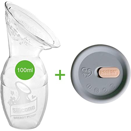 Haakaa Manual Breast Pump with Silicone Cap Combo for Breastfeeding